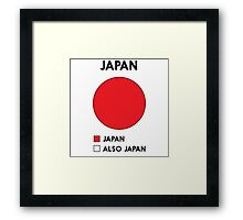 Funny Japan Pie Chart Framed Print
