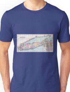 Vintage Map of Long Island (1880)  Unisex T-Shirt