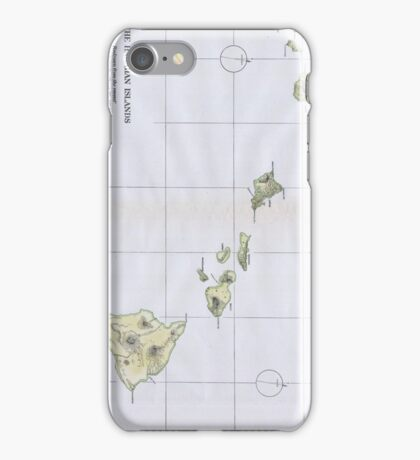 Vintage Map of Hawaii (1883) iPhone Case/Skin