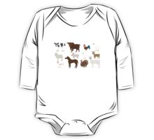 Farm Animals - The Kids' Picture Show - Pixel Art One Piece - Long Sleeve