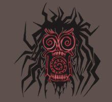 Tribal Zombie Head by Mark Kerr