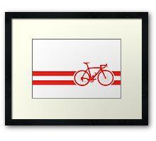 Bike Stripes Austria Framed Print