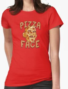 Pizza Face Womens Fitted T-Shirt
