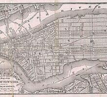 Vintage Map of New York City (1886)  by BravuraMedia