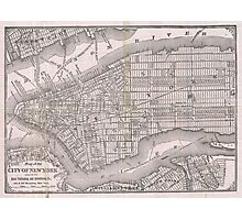 Vintage Map of New York City (1886)  Photographic Print