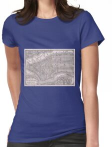 Vintage Map of New York City (1886)  Womens Fitted T-Shirt