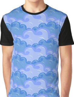 clouds in different colors of blue Graphic T-Shirt