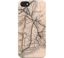 Vintage Boston and Montreal Railroad Map (1887) iPhone Case/Skin