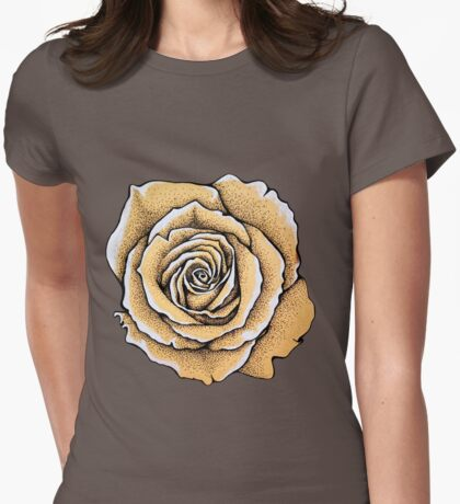 Beautiful rose flower Womens Fitted T-Shirt