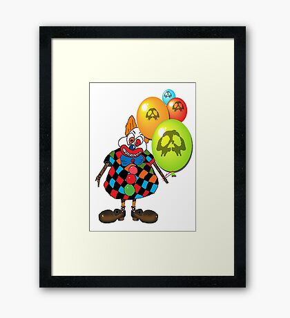 sICKO tHE gOTHIC hILL CLOWN Framed Print
