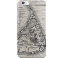 Vintage Map of Nantucket iPhone Case/Skin