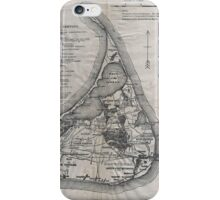 Vintage Map of Nantucket iPhone Case/Skin