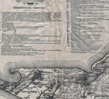 Vintage Map of Nantucket Sticker