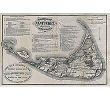 Vintage Map of Nantucket Photographic Print