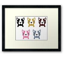 Adorable doggie set. Vector Illustration Framed Print