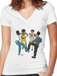It's A House Party!  Women's Fitted V-Neck T-Shirt