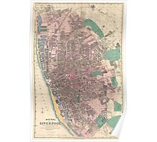Vintage Map of Liverpool England (1890) Poster