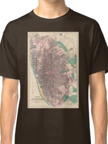 Vintage Map of Liverpool England (1890) Classic T-Shirt