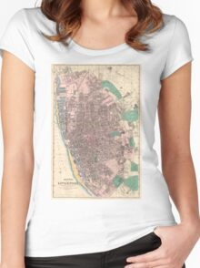 Vintage Map of Liverpool England (1890) Women's Fitted Scoop T-Shirt