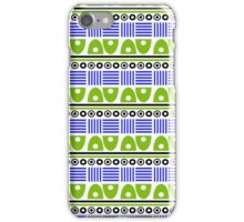 Blue And Green Tribal Geometric Pattern    iPhone Case/Skin