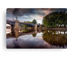 Skeldergate Bridge Summer Sunset Canvas Print