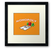 MONOPOLY - NEW YORK AVENUE ON FIRE Framed Print