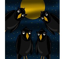 Halloween - Raven flock Photographic Print