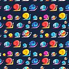 Graphic ornament colorful snail by Tanor