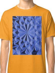 Blue fractals pattern, geometric theme Classic T-Shirt