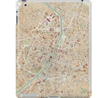 Vintage Map of Paris (1892) iPad Case/Skin
