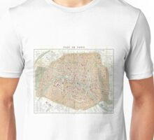 Vintage Map of Paris (1892) Unisex T-Shirt