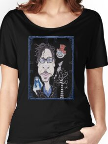 Dark Gothic Fantasy Movies Caricature Drawing Women's Relaxed Fit T-Shirt