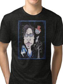 Dark Gothic Fantasy Movies Caricature Drawing Tri-blend T-Shirt