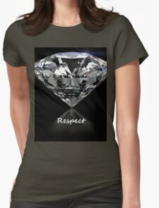 Diamond Shine & Respect Womens Fitted T-Shirt