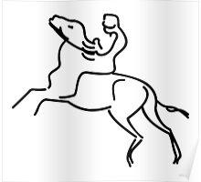 Jockey on a Horse VRS2 Poster