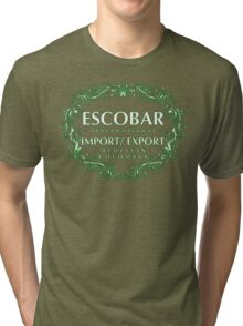 Escobar Import and Export White Mint Glow Tri-blend T-Shirt