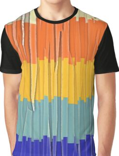 Shredded Stripes Graphic T-Shirt