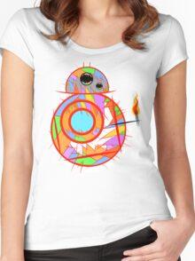 Fan art robot by MrNobody Women's Fitted Scoop T-Shirt