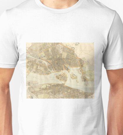 Vintage Map of Stockholm (1899) Unisex T-Shirt