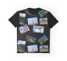 Black 7 Continents Graphic T-Shirt