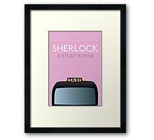 Sherlock - A Study in Pink Framed Print