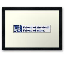 Grateful Dead - Friend of the Devil Framed Print