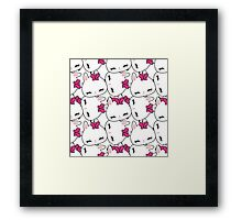 Cute little bunny pattern Framed Print