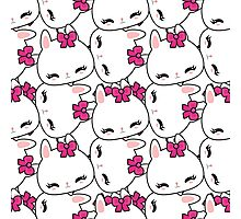 Cute little bunny pattern Photographic Print