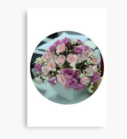 Faux Flowers Canvas Print