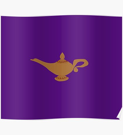 Aladdin Genie Lamp (Purple) Poster