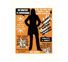 Doctor Who - Donna Noble Quotes Art Print