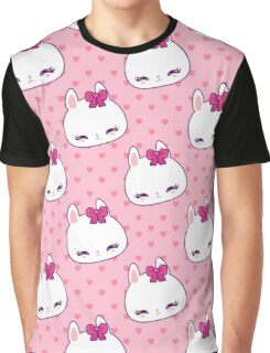 Cute little bunny pattern with hearts Graphic T-Shirt
