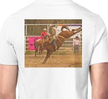 Rodeo A Wild Horse Kicks Its Back Legs High in the Air Unisex T-Shirt