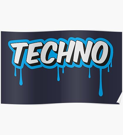 TECHNO - PARTY - RAVE - EDM Poster